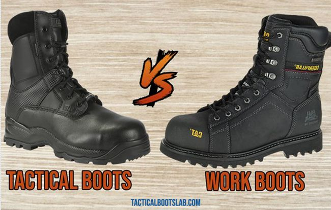 Tactical Boots VS Work Boots